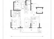 A1户型(建筑面积:128㎡ 3室2厅2卫)