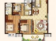 C户型(建筑面积:119㎡ 3室2厅2卫)