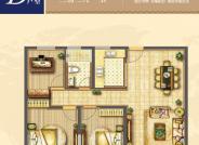 D户型3室2厅1厨1卫