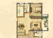 C户型3室2厅1厨2卫