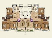 24# F户型【在售】(建筑面积:116.61㎡ 3室2厅2卫)