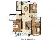 C1户型(建筑面积:123.86㎡ 3室2厅2卫)