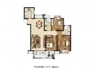 D2户型(建筑面积:117.38㎡ 3室2厅2卫)