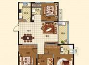 c户型(建筑面积:140.59㎡ 4室2厅2卫)