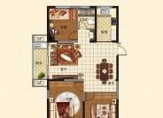 a户型(建筑面积:117.48㎡ 3室2厅1卫)