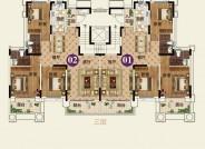 24# C户型【在售】(建筑面积:130.42㎡ 3室2厅2卫)