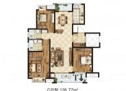 C户型(建筑面积:126.77㎡ 3室2厅2卫)