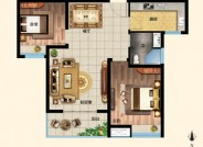 两室两厅一卫78㎡B