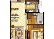 A1户型【未售】(建筑面积:92㎡ 3室2厅1卫)