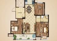 C户型(建筑面积:108㎡ 3室2厅1卫)